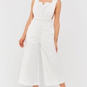 Urban Outfitters Tia Square Neck Apron Jumpsuit